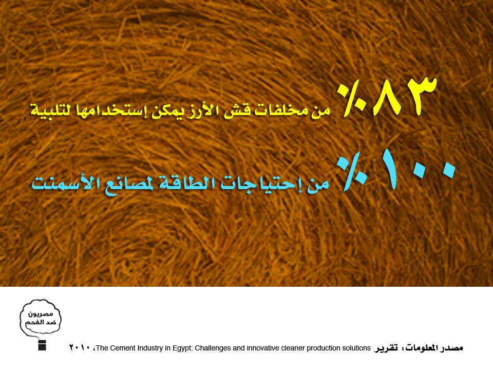 إستخدام قش الأرز في توليد الطاقة للأسمنت