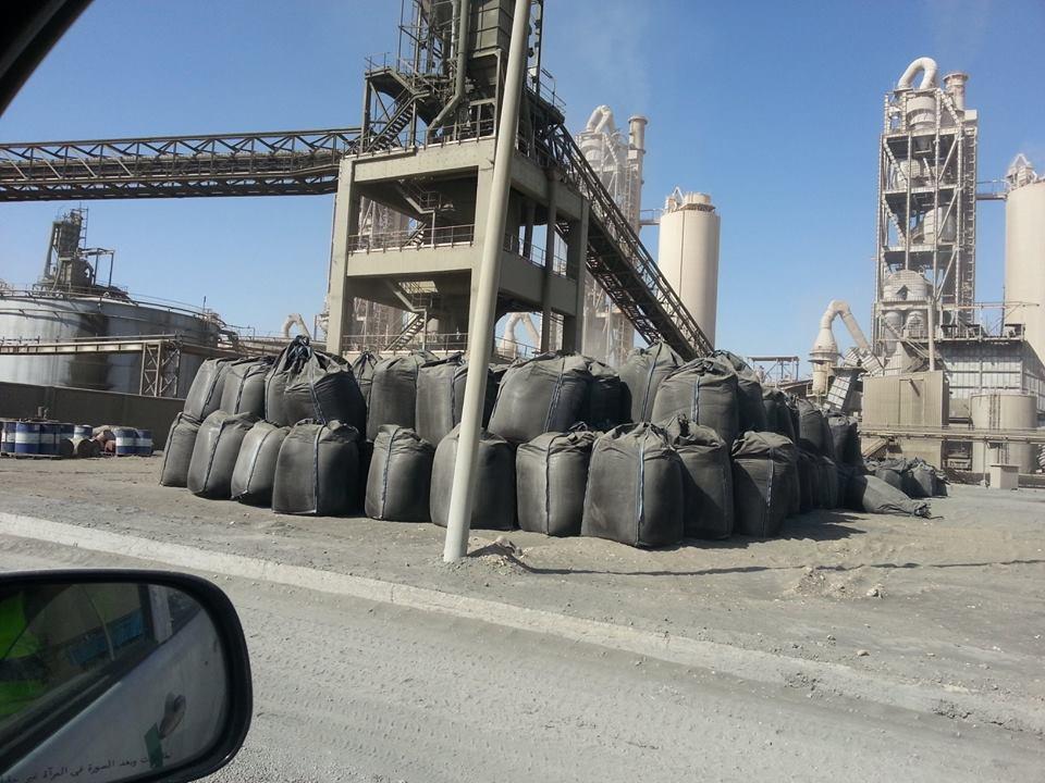 فحم غير قانوني في مصنع لافارج ١