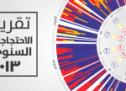 أكبر تقارير المركز المصري في نصف العام الأول: تقرير الاحتجاجات لعام 2013